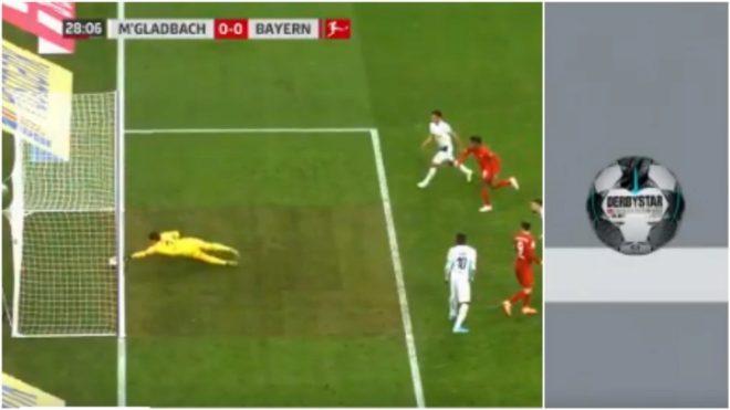 La imagen en la que el VAR demuestra que la pelota no pasó entera en...