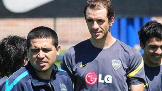 Somoza y Riquelme, cuando coincidieron en Boca.
