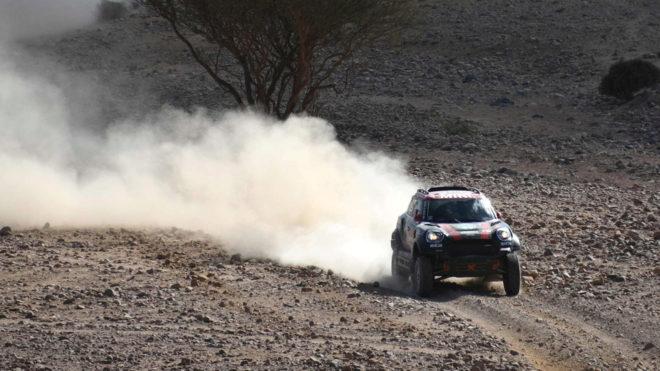 Orlando Terranova, durante la segunda etapa del Dakar 2020.