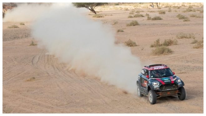 Orlando Terranova, en acción durante la etapa entre Neom y Al-Ula.