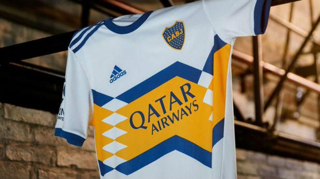La camiseta suplente de Boca.