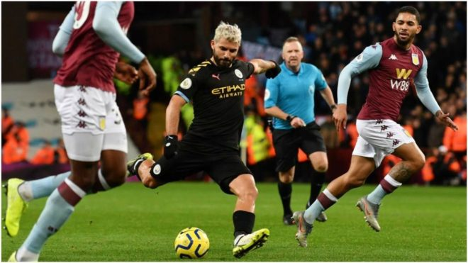 Manchester City aplasta al Aston Villa en la fiesta de Agüero