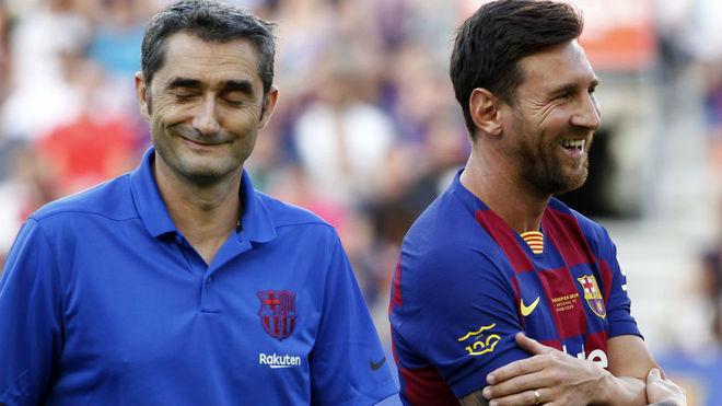 Valverde y Messi.