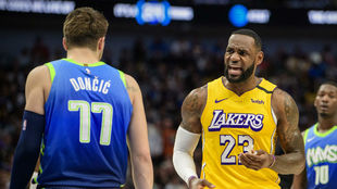 Luka Doncic y Lebron James.