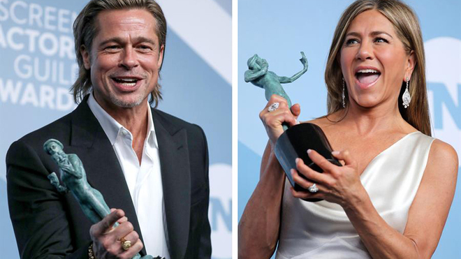 Brad Pitt y Jennifer Aniston se llevan todas las miradas en los...