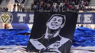 Una imagen de Emiliano Sala de la afición del Girondins de Burdeos.