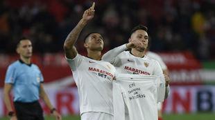 Lucas Ocampos recuerda a Emiliano Sala con su gol en Copa del Rey