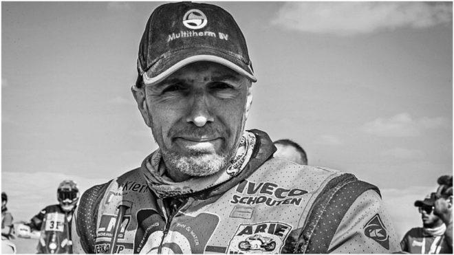 Edwin Straver (48 años), en una imagen del Dakar 2020.