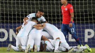 Argentina triunfó ante Chile.