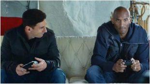 Messi y Kobe Bryant, en uno de sus encuentros.