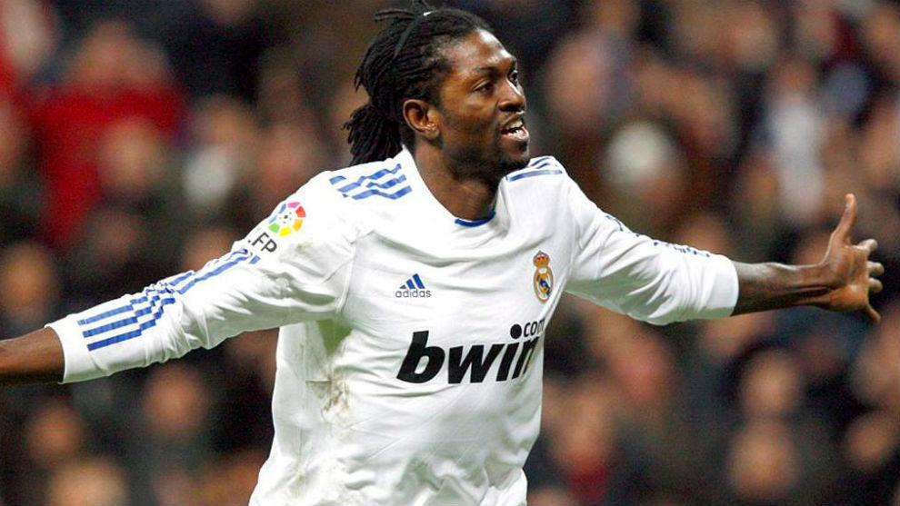 Adebayor jugó en el Real Madrid.