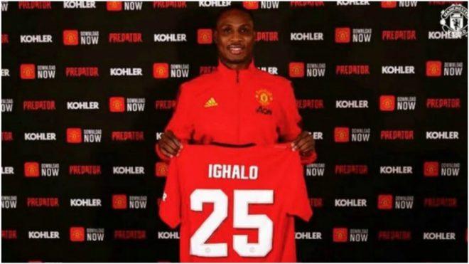 Ighalo, el día de su presentación con el United.