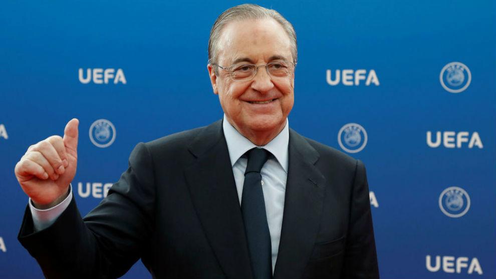 Fuerte apoyo del presidente del Madrid.