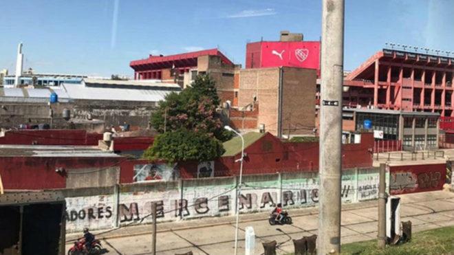 Los alrededores de la cancha de Independiente.