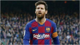 Messi, durante el partido ante el Getafe.