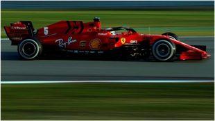 Sebastian Vettel, durante los entrenamientos en Barcelona.