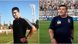 Diego Maradona despide a Braian Toledo con un emotivo mensaje