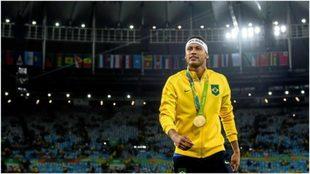 Neymar en Río 2016.