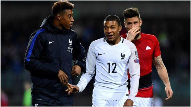 Mbappé saluda a su compañero en el PSG y la selección, Presnel...