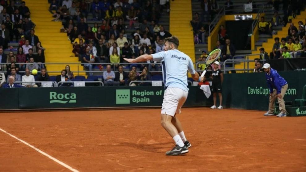Londero cae ante Galán y Argentina queda eliminada de la Copa Davis