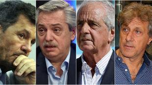 Tinelli, Fernández, D'Onofrio y Marchi.