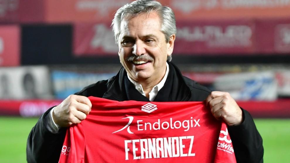 Alberto se refirió al presente del fútbol.