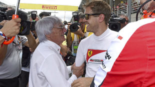 Ecclestone aconseja a Vettel que deje Ferrari y se vaya a McLaren