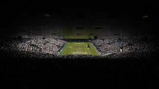 Una de las entradas al All England Club de Wimbledon.