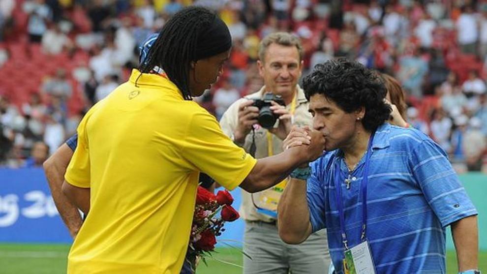 Diego y Ronaldinho.