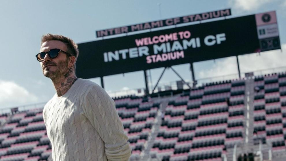 David Beckham en el estadio del Inter de Miami.