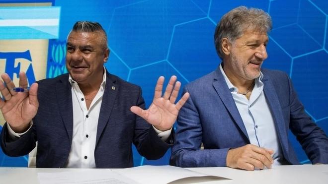 Chiqui Tapia y Sergio Marchi