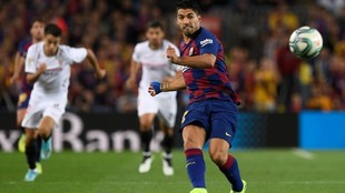 Luis Suárez, en un partido con el Barcelona.
