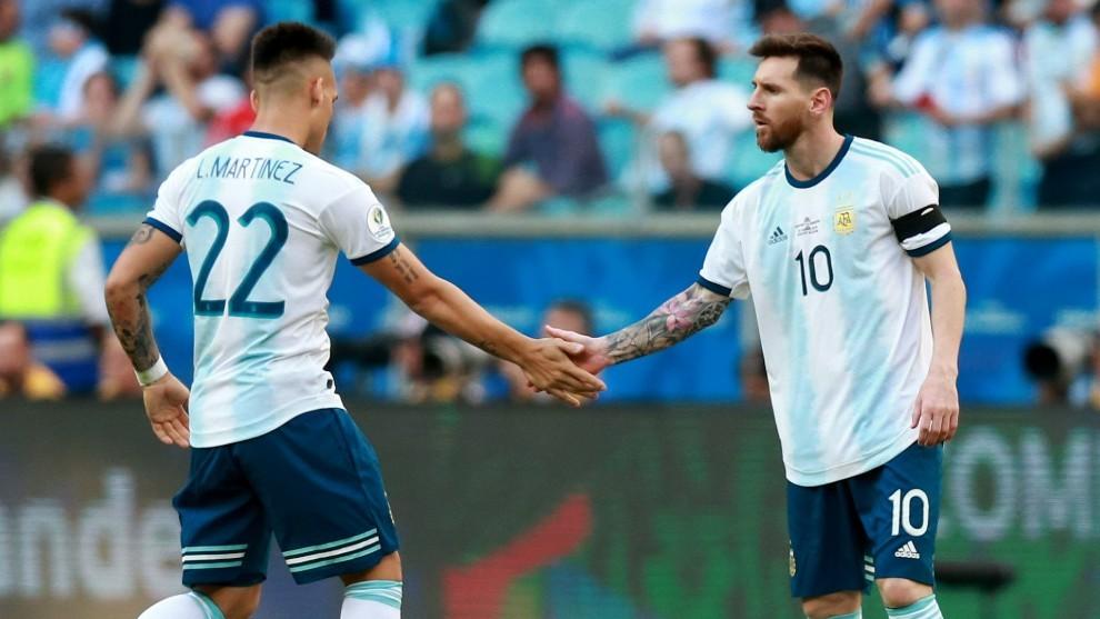 Lautaro y Messi, la dupla de Argentina que quiere el Barcelona.