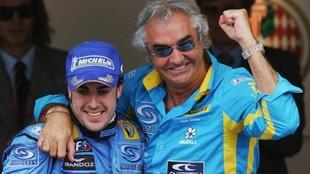 Briatore junto a Alonso.