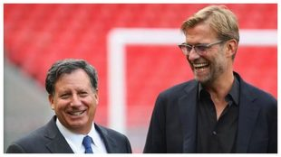 Tom Werner, presidente del Liverpool, junto a Jürgen Klopp.