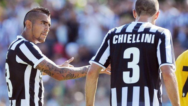 Vidal y Chiellini en Juventus.