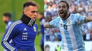 """Higuaín no lo duda: """"Lautaro tiene todo para ser el..."""