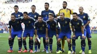 La formación de Argentina en la final ante Alemania