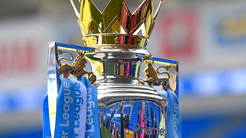 El trofeo de la Premier League.