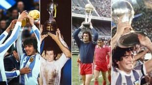Argentina logró ser campeón del mundo de mayores y juveniles en...