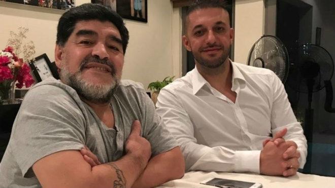 Maradona junto a Morla.