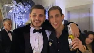 Icardi y Di María celebraron juntos su cumpleaños con Cavani
