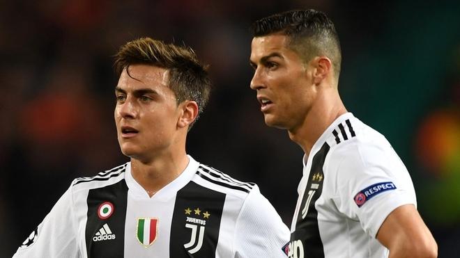 Dybala y Cristiano en Juventus