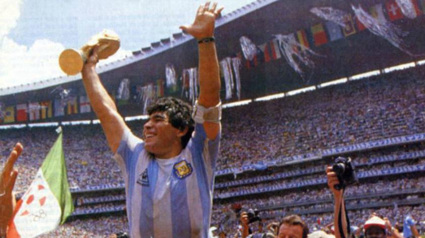 Diego Armando Maradona, tras conquistar el Mundial 86 con Argentina