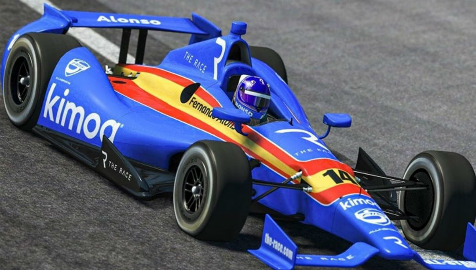 Fernando Alonso durante un momento de la carrera.