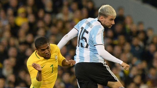 Mammana en un Argentina vs Brasil