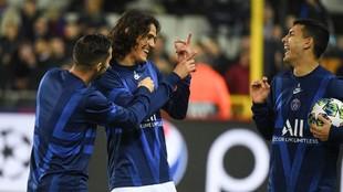 Edinson Cavani y Leandro Paredes, a pura risa en la previa de un...