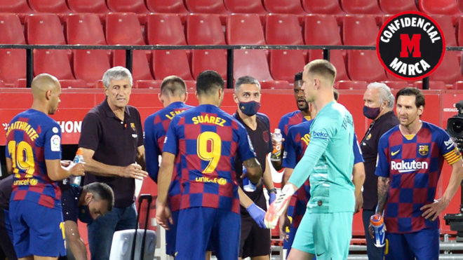 Pausa para el descanso en el Celta vs Barcelona de LaLiga.