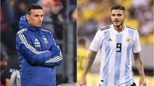 Lionel Scaloni, DT de Argentina, confía en que Mauro Icardi pueda...