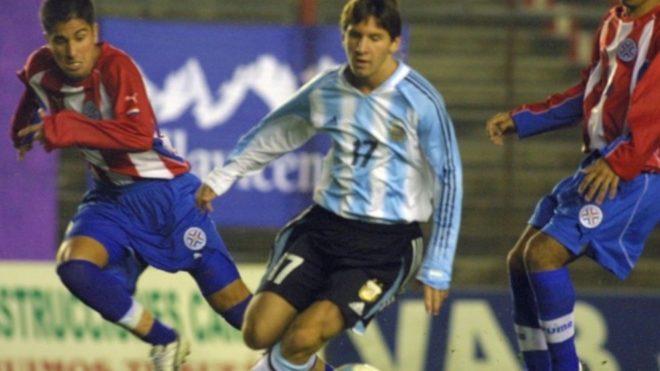 Leo Messi ante Paraguay.